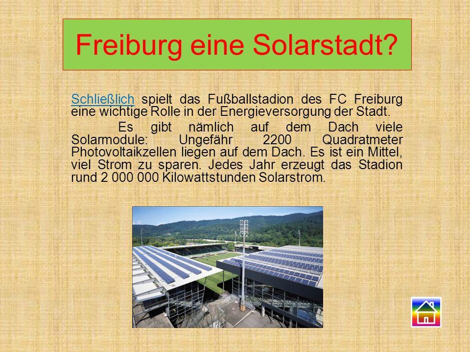 Freiburg eine Solarstadt