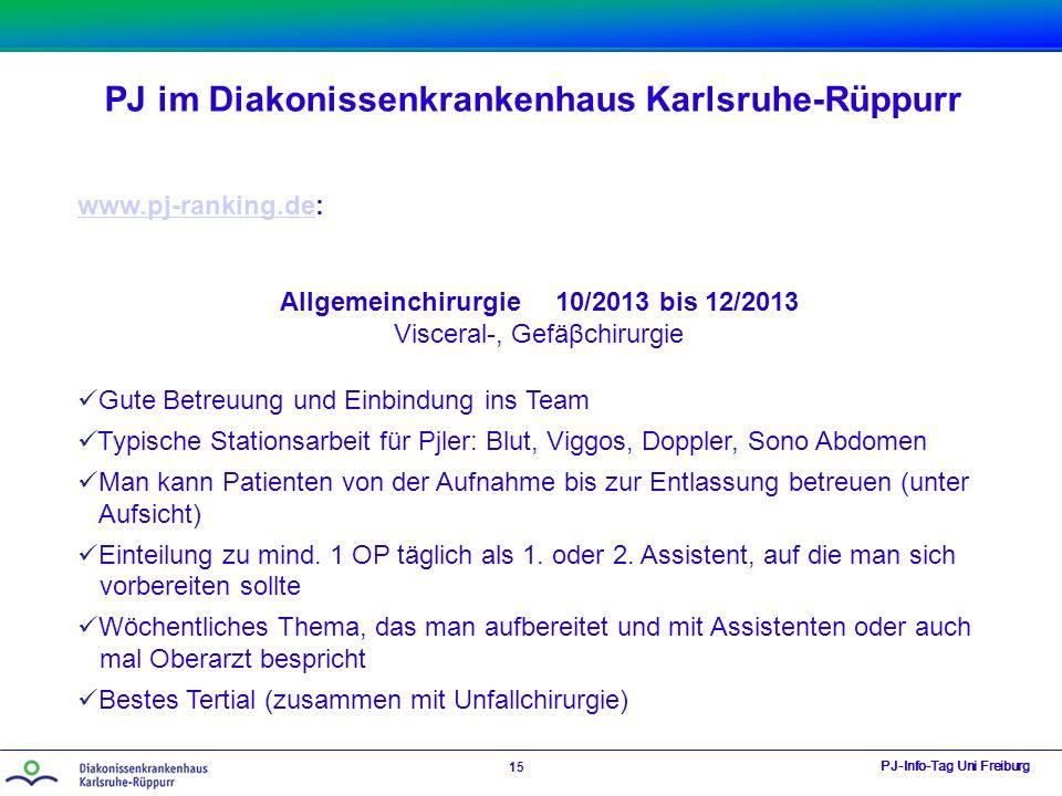 Allgemeinchirurgie 10/2013 bis 12/2013