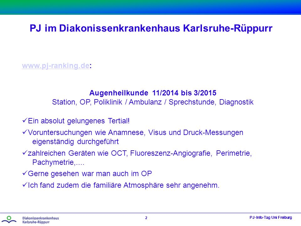 Station, OP, Poliklinik / Ambulanz / Sprechstunde, Diagnostik