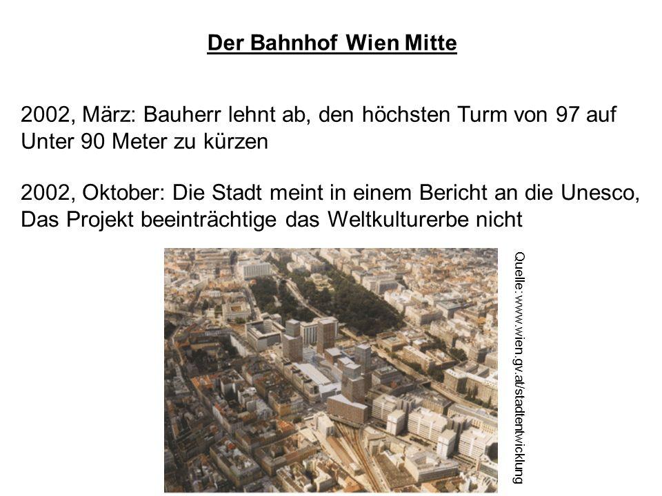 2002, März: Bauherr lehnt ab, den höchsten Turm von 97 auf