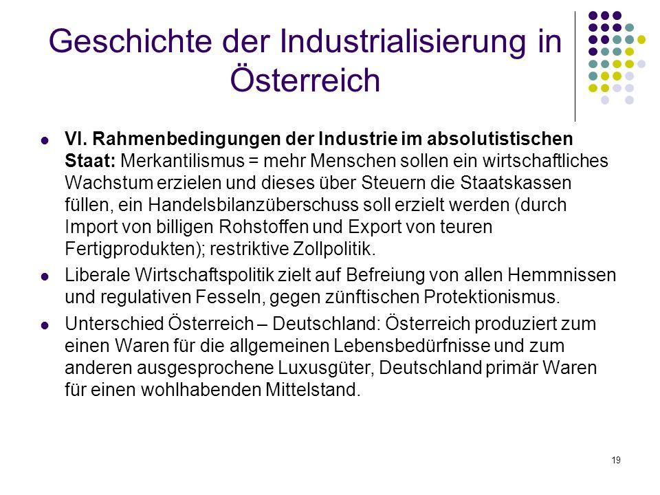 Geschichte der Industrialisierung in Österreich