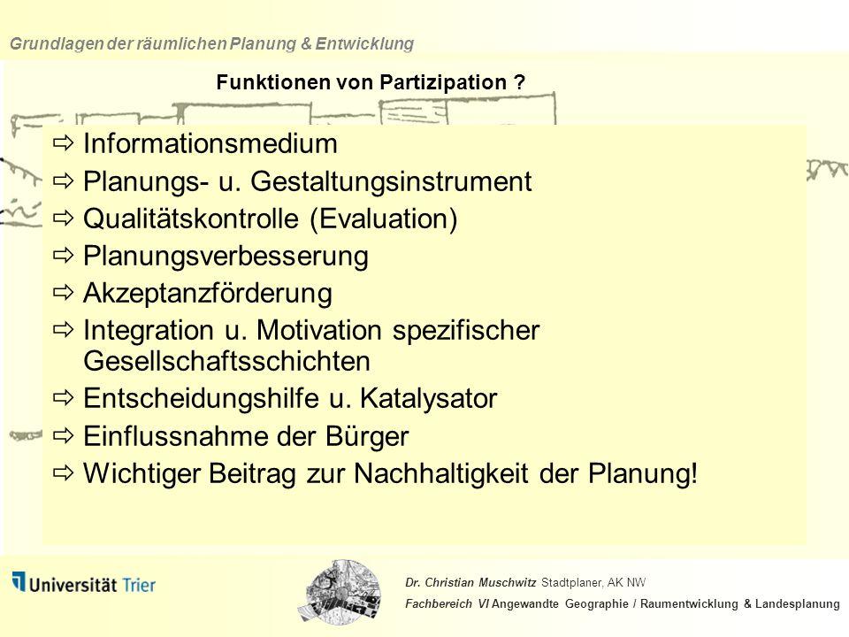 Funktionen von Partizipation