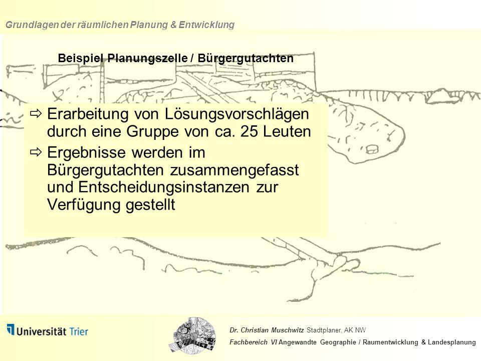 Beispiel Planungszelle / Bürgergutachten