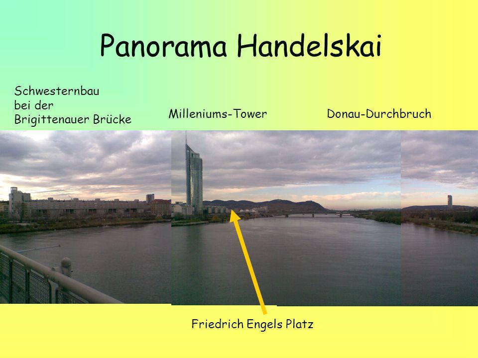 Panorama Handelskai Schwesternbau bei der Brigittenauer Brücke