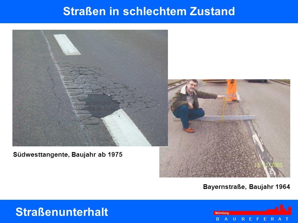 Straßen in schlechtem Zustand