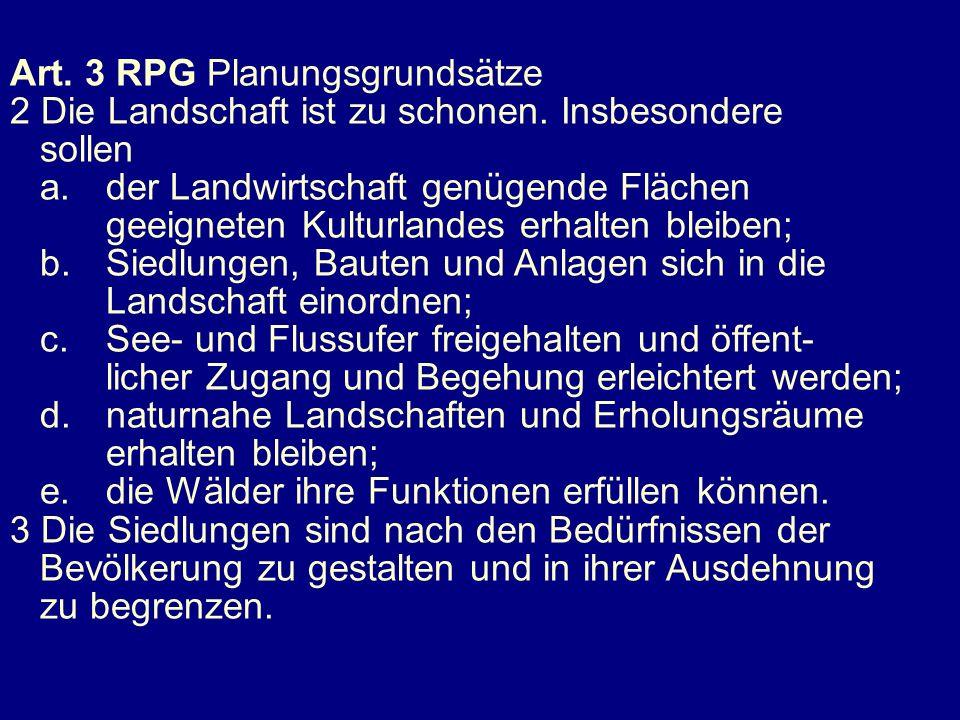 Art. 3 RPG Planungsgrundsätze