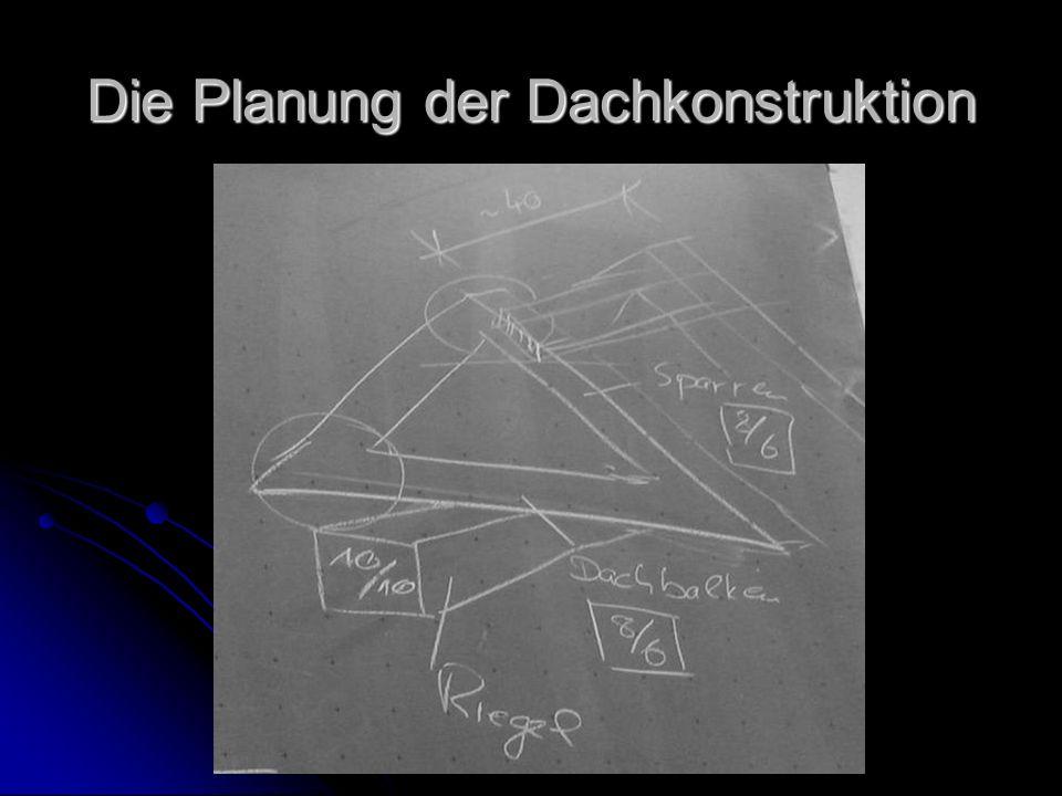 Die Planung der Dachkonstruktion