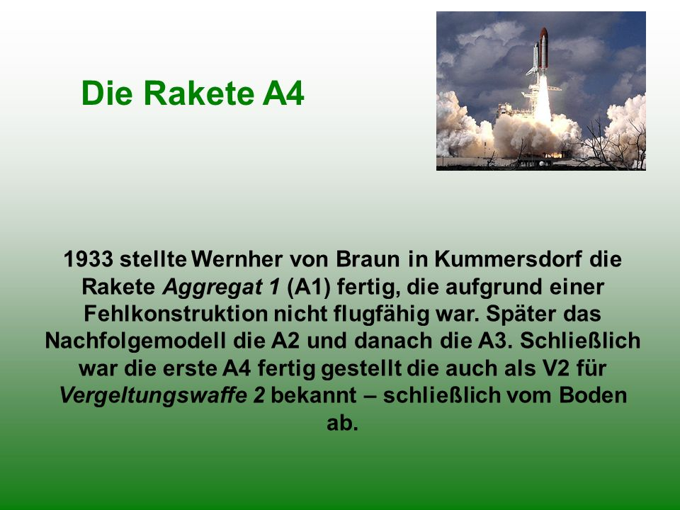 Die Rakete A4