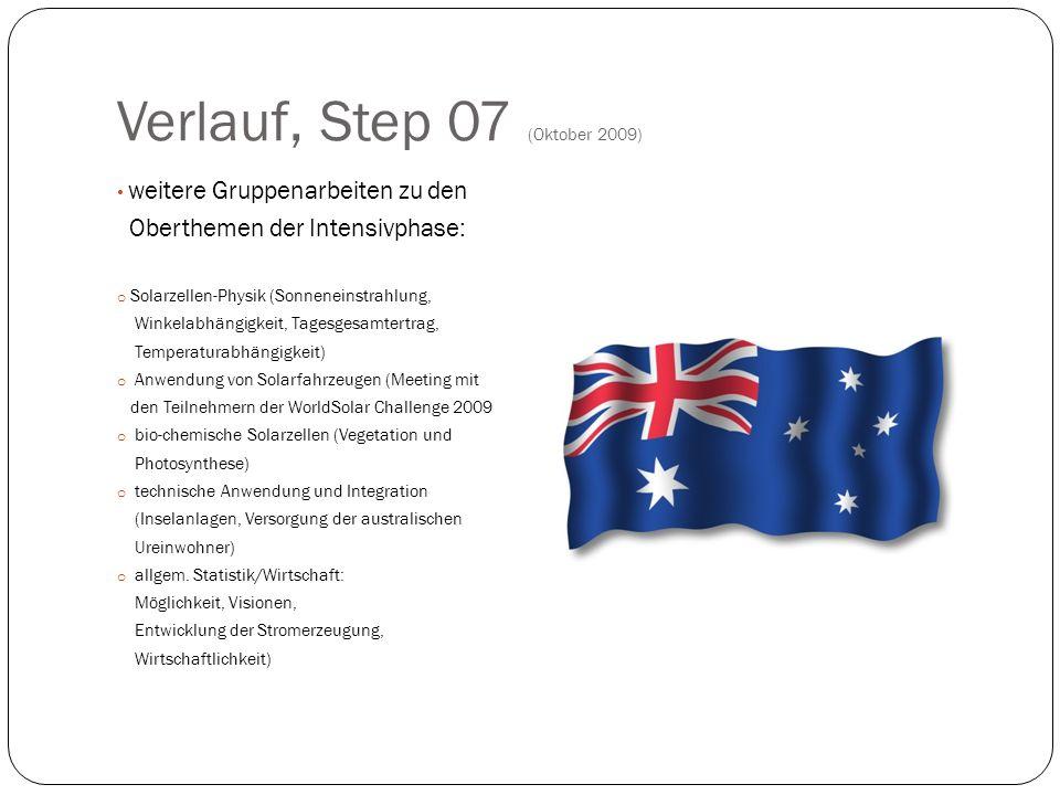 Verlauf, Step 07 (Oktober 2009)
