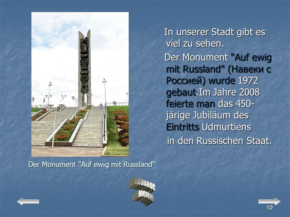 Der Monument Auf ewig mit Russland