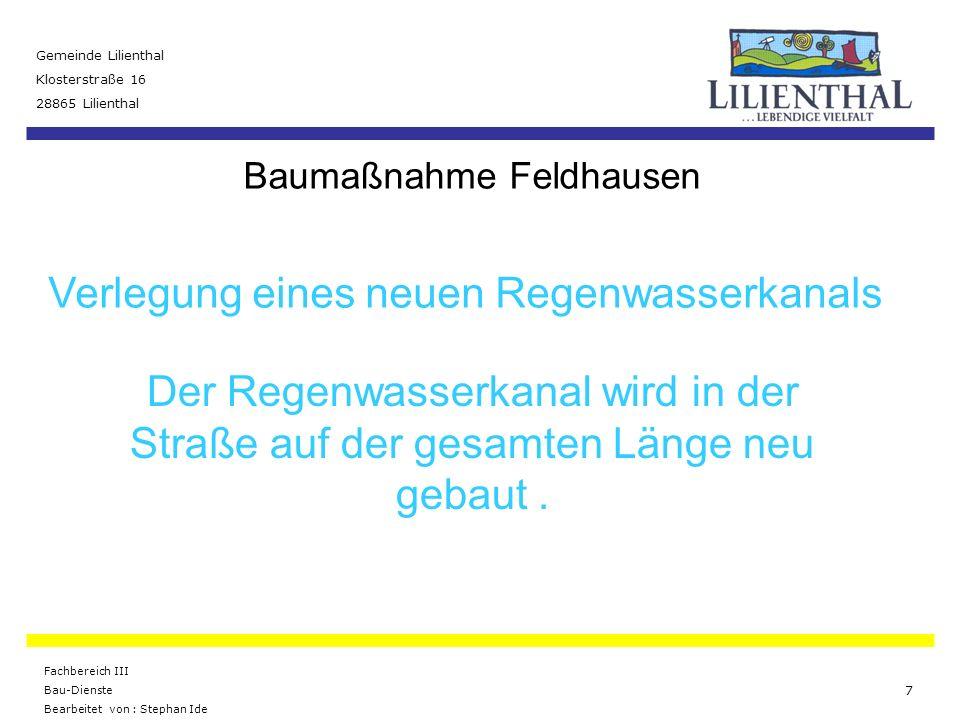 Baumaßnahme Feldhausen