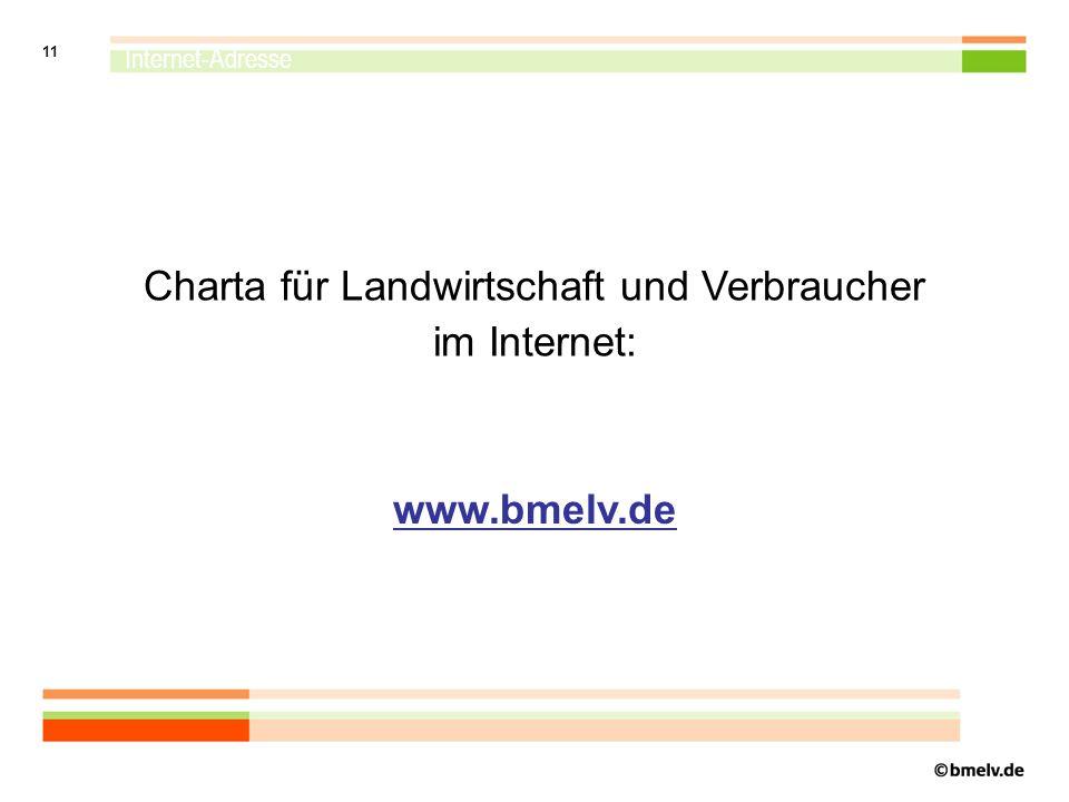 Charta für Landwirtschaft und Verbraucher im Internet: