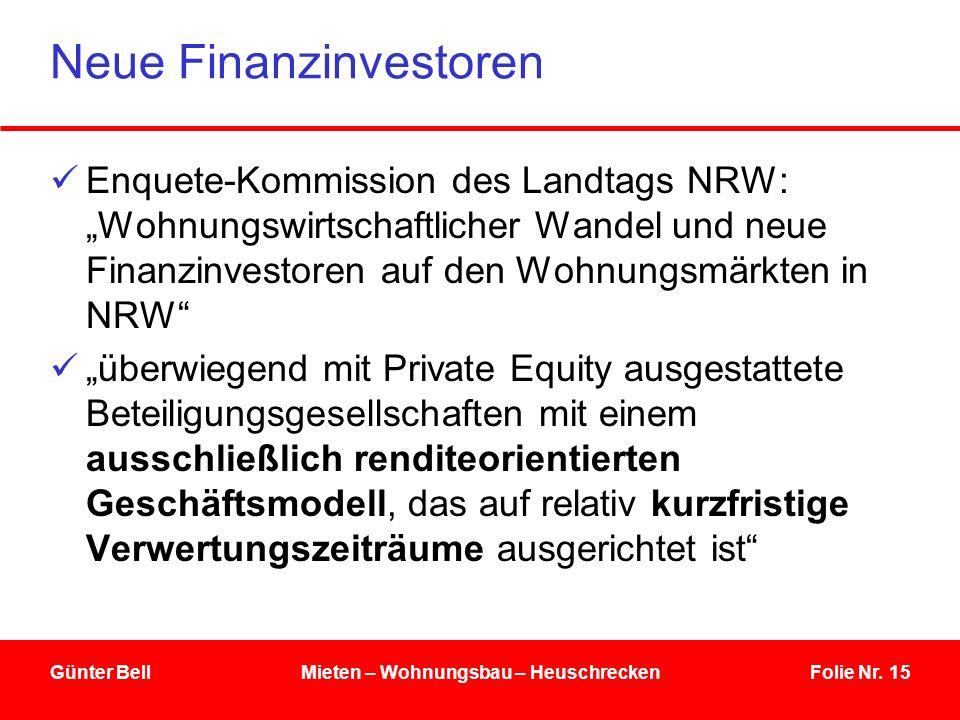 Neue Finanzinvestoren
