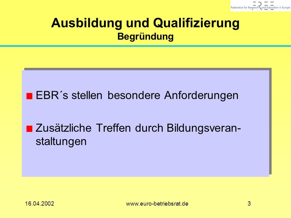 Ausbildung und Qualifizierung Begründung