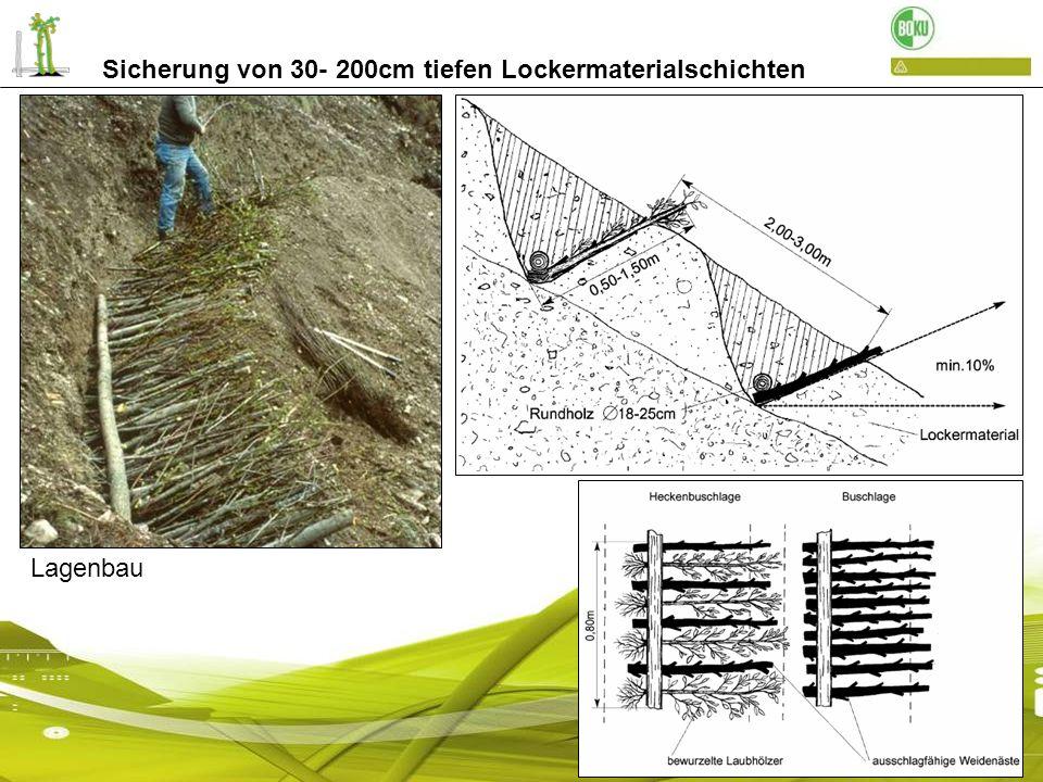 Sicherung von 30- 200cm tiefen Lockermaterialschichten