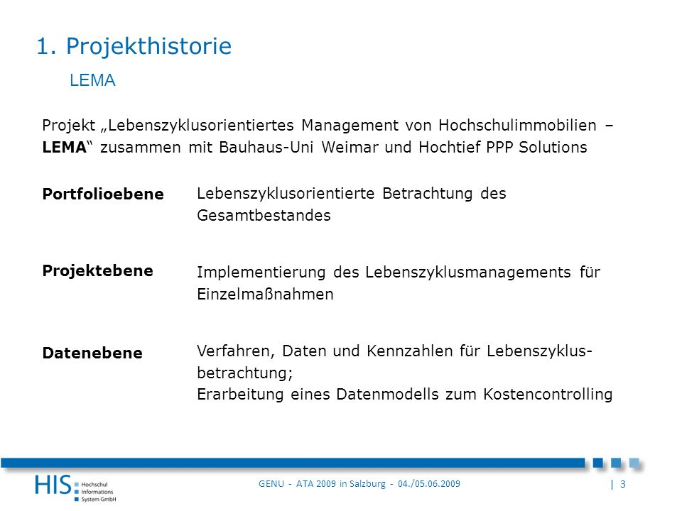 1. Projekthistorie LEMA.
