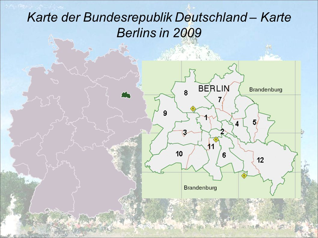 Karte der Bundesrepublik Deutschland – Karte Berlins in 2009