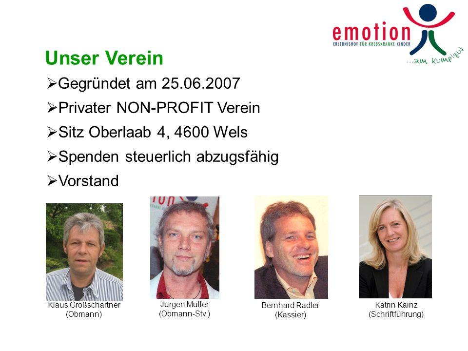 Unser Verein Gegründet am 25.06.2007 Privater NON-PROFIT Verein