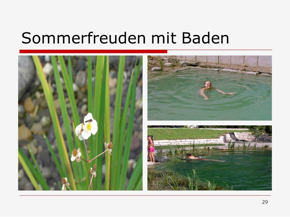 Sommerfreuden mit Baden