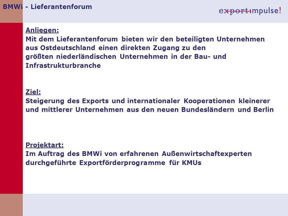 BMWi - Lieferantenforum