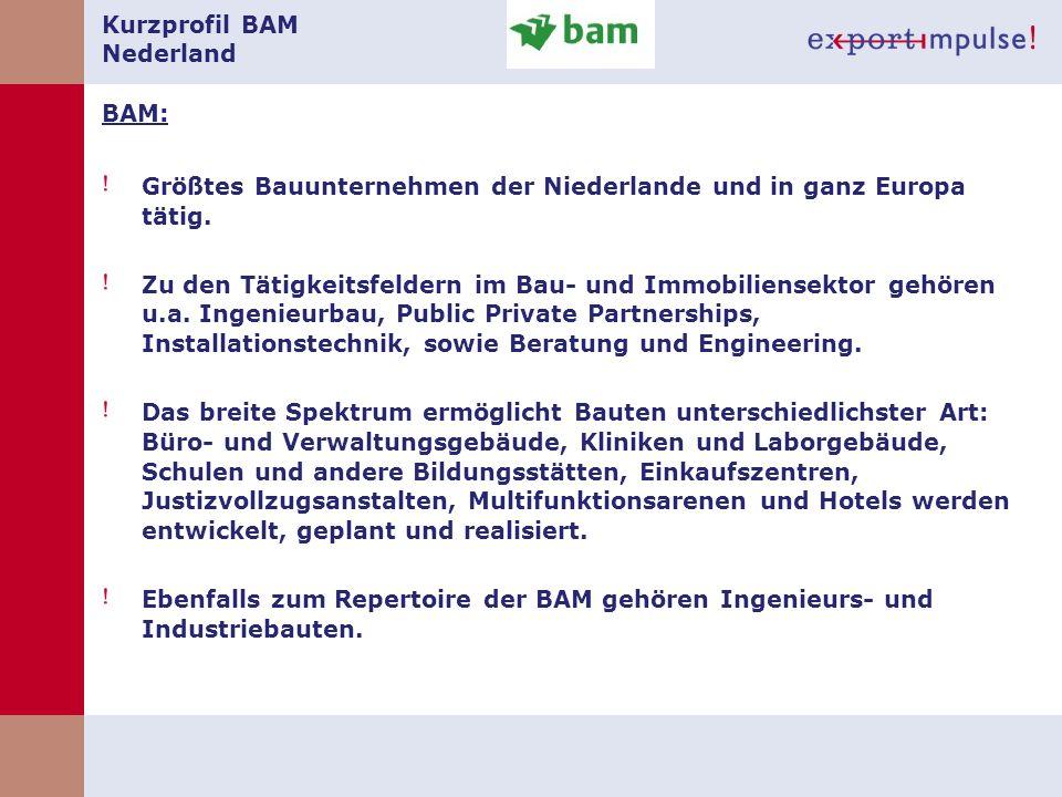 Kurzprofil BAM Nederland