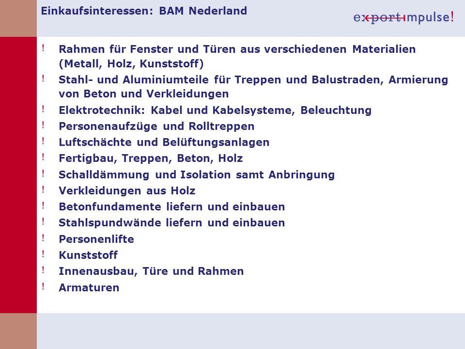 Einkaufsinteressen: BAM Nederland