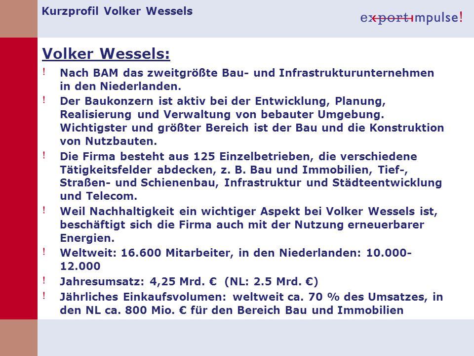 Kurzprofil Volker Wessels