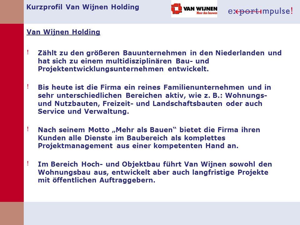 Kurzprofil Van Wijnen Holding