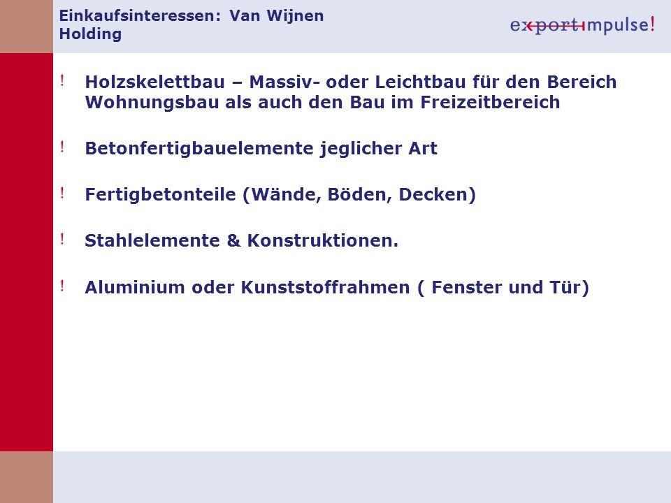 Einkaufsinteressen: Van Wijnen Holding