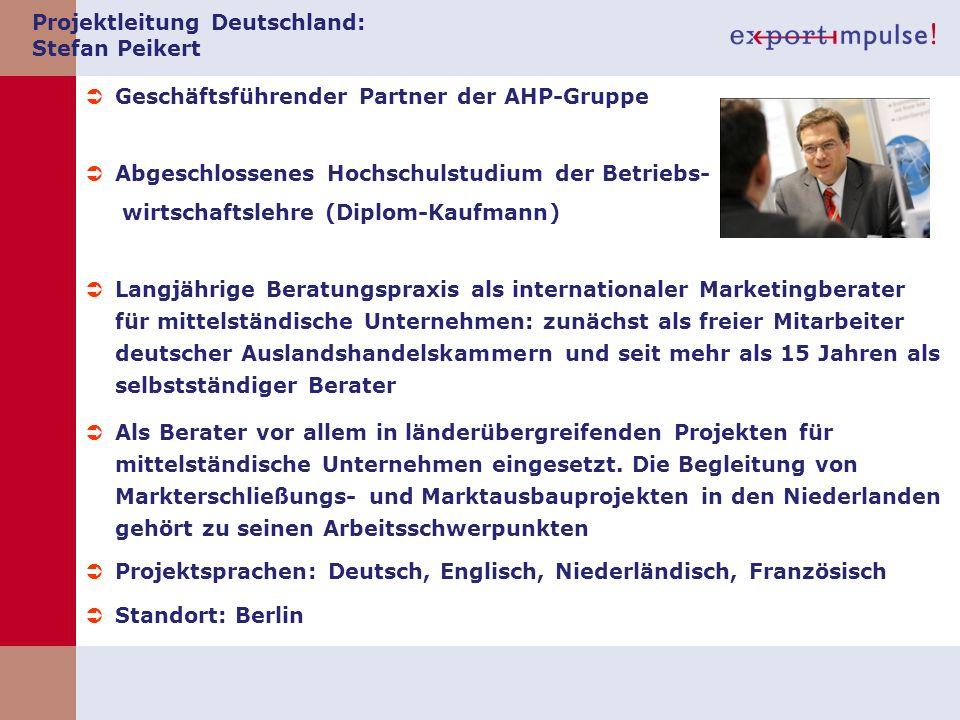 Projektleitung Deutschland: Stefan Peikert