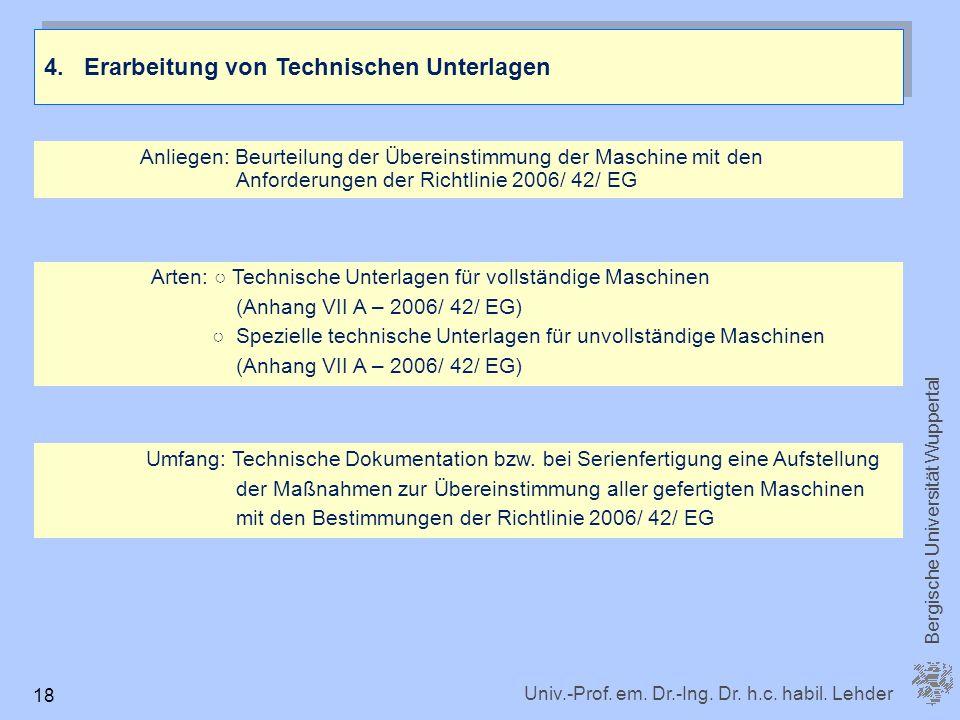 4. Erarbeitung von Technischen Unterlagen