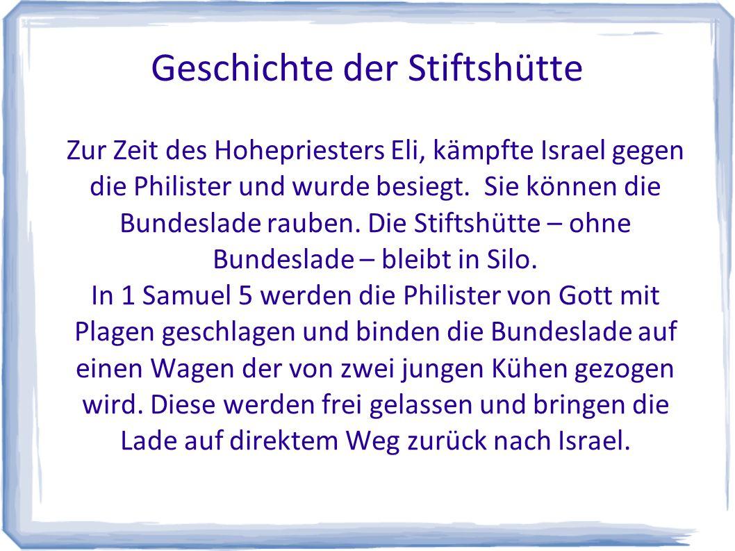 Geschichte der Stiftshütte