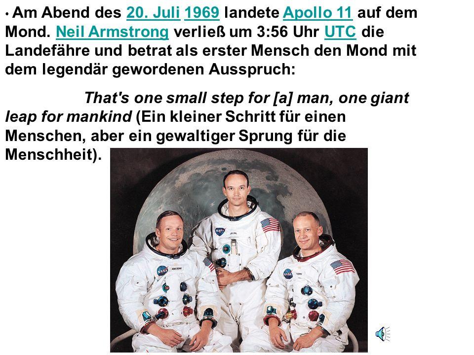 Am Abend des 20. Juli 1969 landete Apollo 11 auf dem Mond