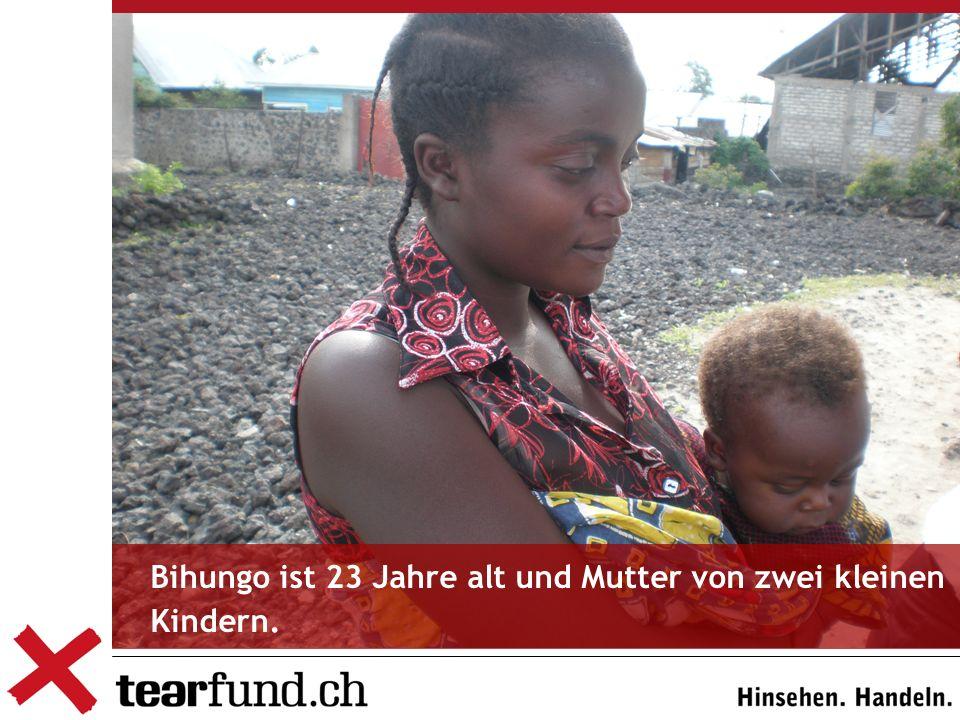 Bihungo ist 23 Jahre alt und Mutter von zwei kleinen Kindern.