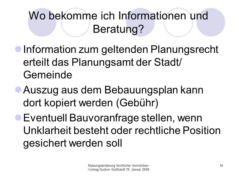 Wo bekomme ich Informationen und Beratung