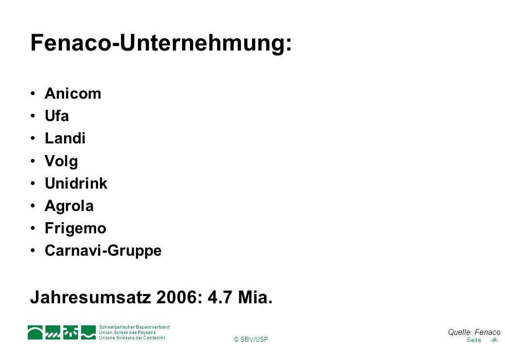 Fenaco-Unternehmung: