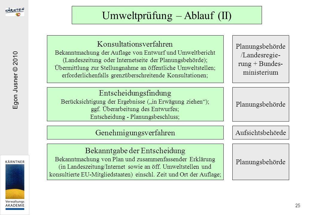 Umweltprüfung – Ablauf (II)