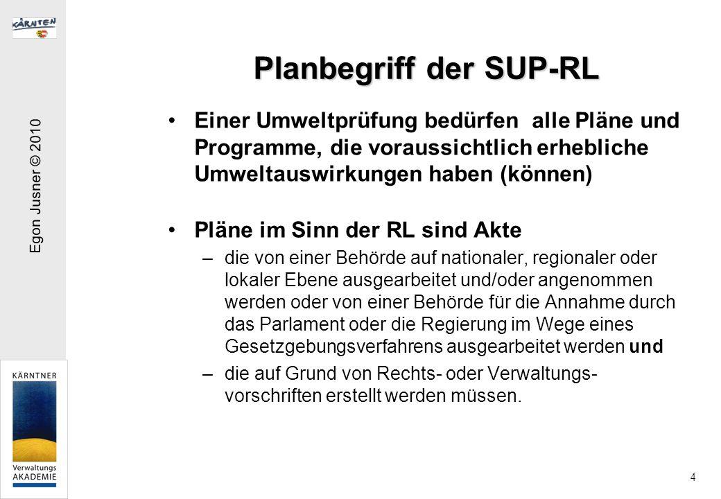 Planbegriff der SUP-RL