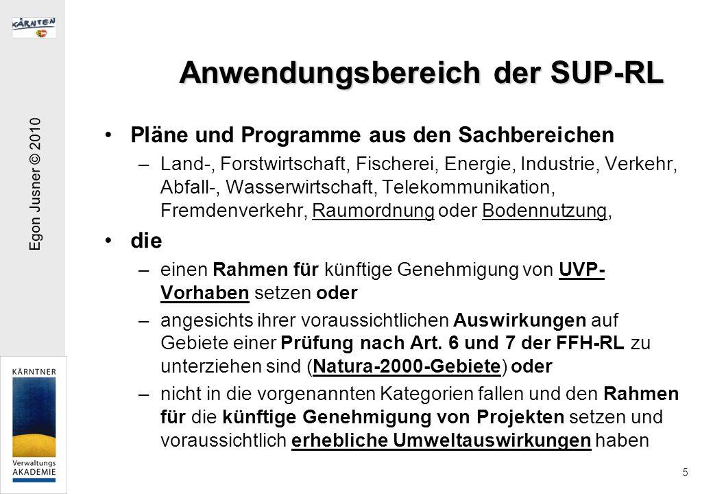 Anwendungsbereich der SUP-RL