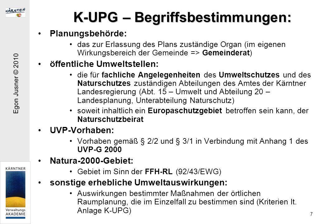 K-UPG – Begriffsbestimmungen:
