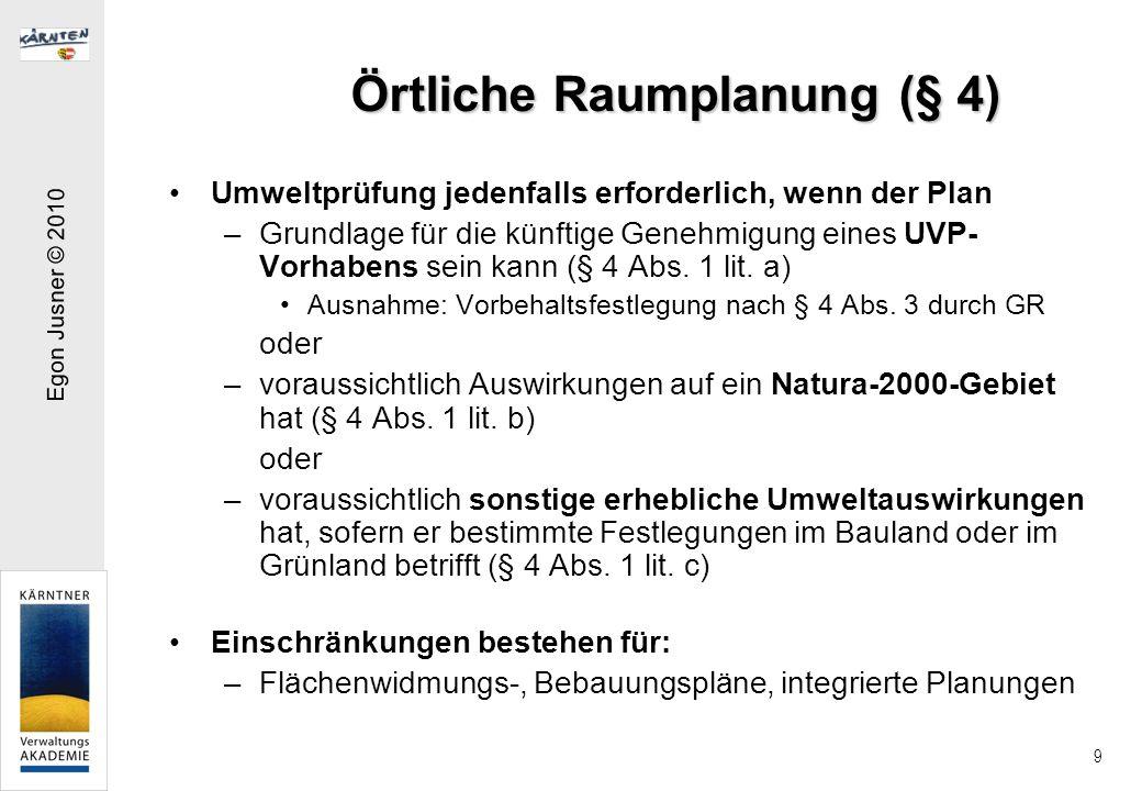 Örtliche Raumplanung (§ 4)