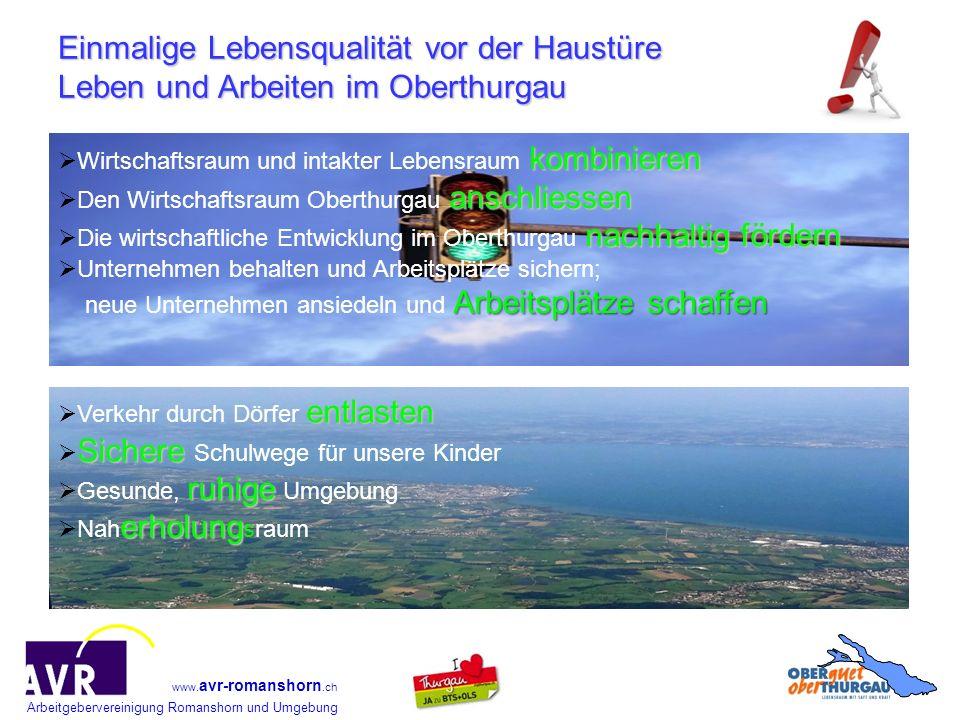 Einmalige Lebensqualität vor der Haustüre Leben und Arbeiten im Oberthurgau