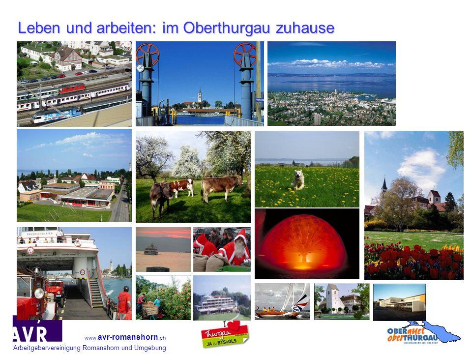 Leben und arbeiten: im Oberthurgau zuhause