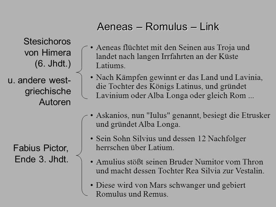 Sagen2 Aen-Romulus Aeneas – Romulus – Link Aphrodite Venus