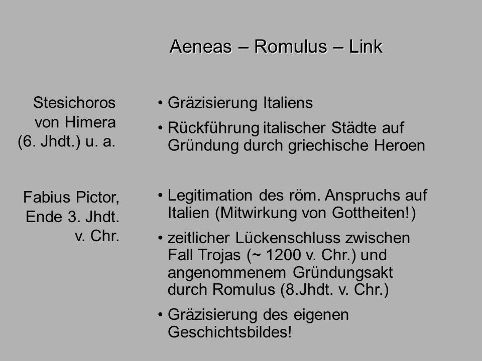 Sagen3 literatuhist. Aeneas – Romulus – Link