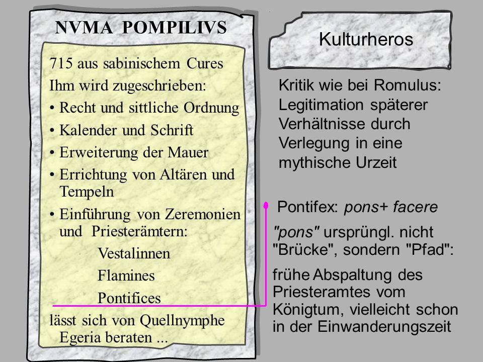 König2Numa NVMA POMPILIVS Kulturheros 715 aus sabinischem Cures