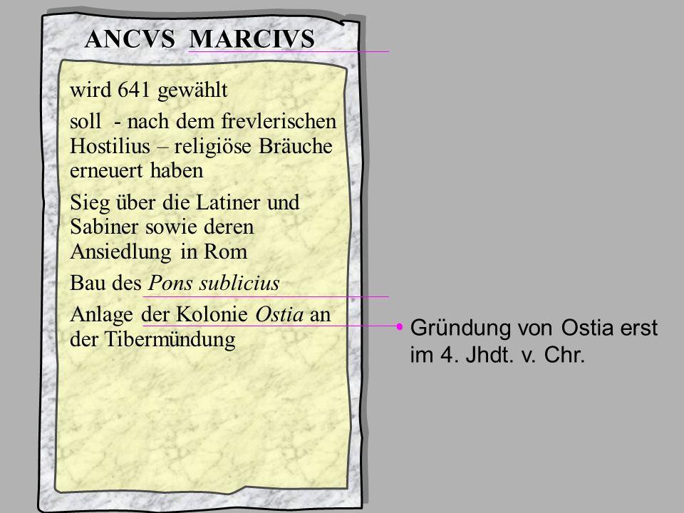 König4Ancus Marcius ANCVS MARCIVS schon Gentilnomen