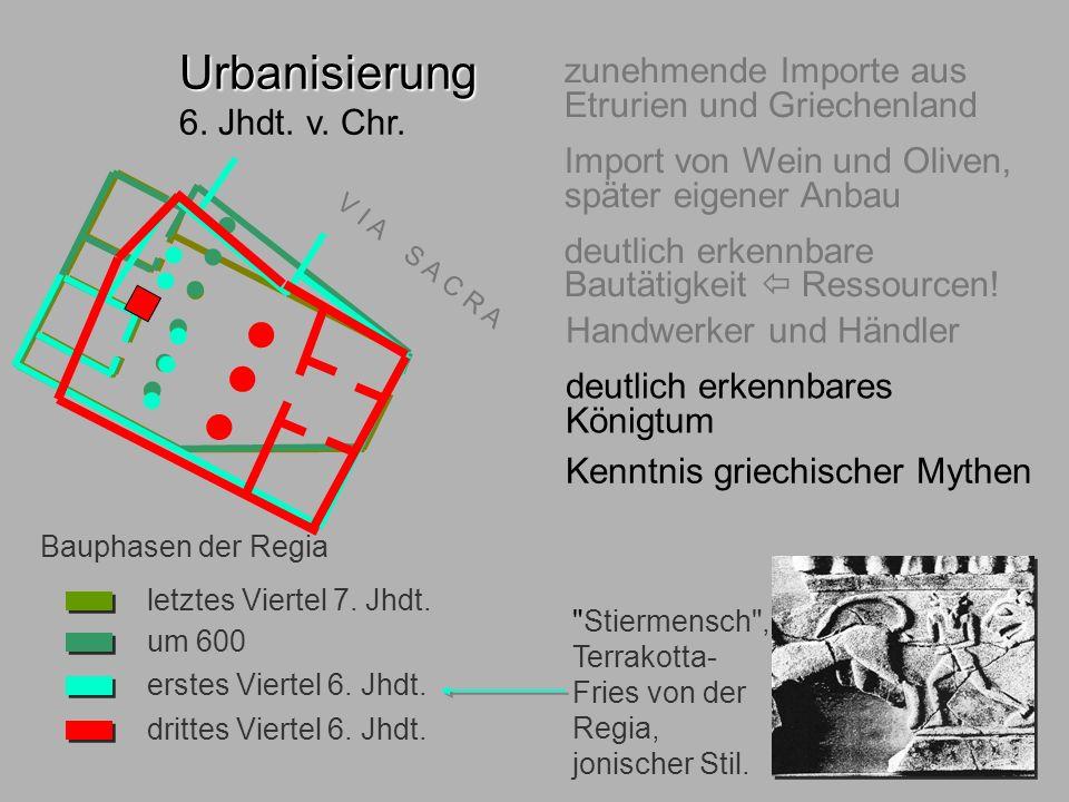 6.Jhdt. Regia Urbanisierung 6. Jhdt. v. Chr.