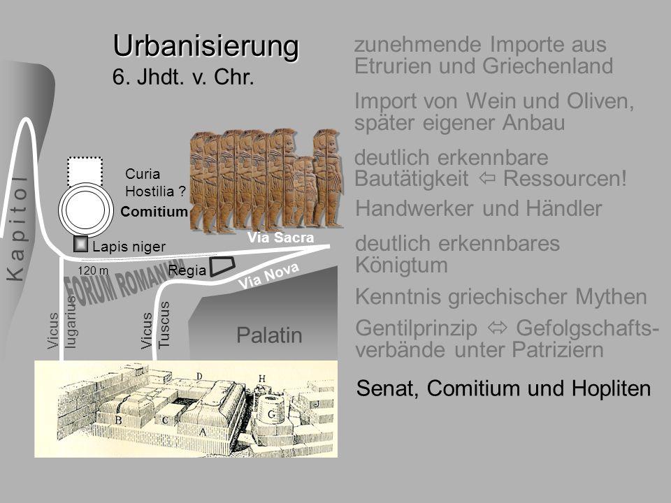 6.Jhdt. Comitium Urbanisierung 6. Jhdt. v. Chr.