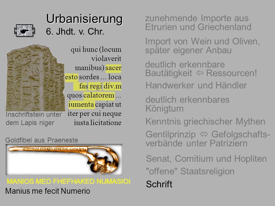Urbanisierung 6. Jhdt. v. Chr.